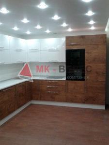 кухня с фасадами мдф в пленке в новосибирске недорого